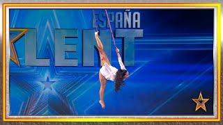 Naiara invita a Eva a volar por los aires con sus telas | Audiciones 4 | Got Talent España 2019
