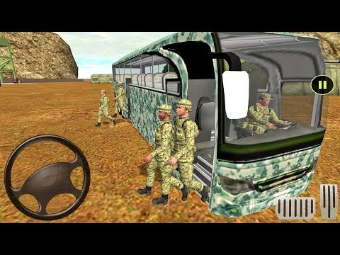 Army Bus Driver Transport Duty - Offroad Bus Game - геймплей для Android