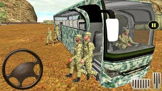 Army Bus Driver US Soldier Transport Duty - Offroad Bus Game - Android gameplay