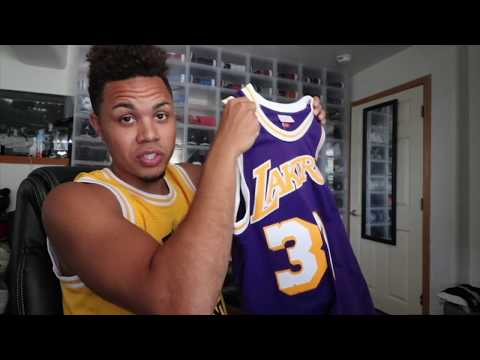 MITCHELL AND NESS MAGIC JOHNSON SWINGMAN JERSEY