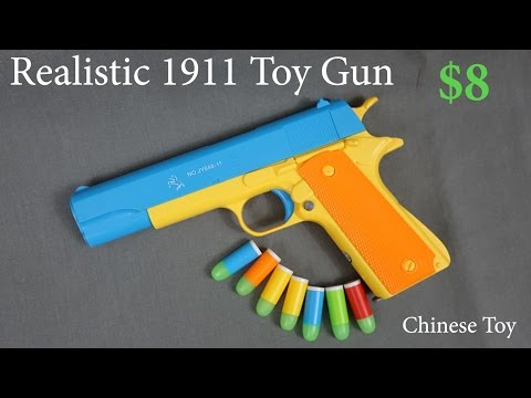 Toy Gun Colt 1911 - Realistic 1:1 Scale Rubber Bullet Pistol Prop .45 ACP Handgun China Nerf