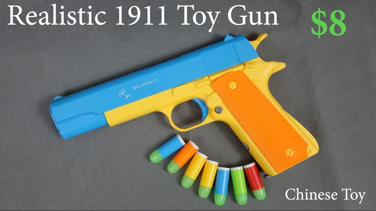 Toy Gun Colt 1911 Realistic 1 1 Scale Rubber Bullet