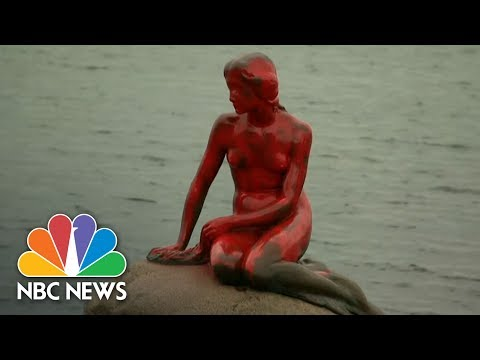 Whaling Protesters Cover Copenhagen Little Mermaid Statue With Red Paint | NBC News