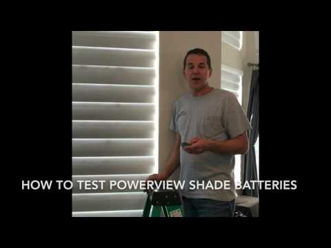Battery Testing in Hunter Douglas PowerView Shades