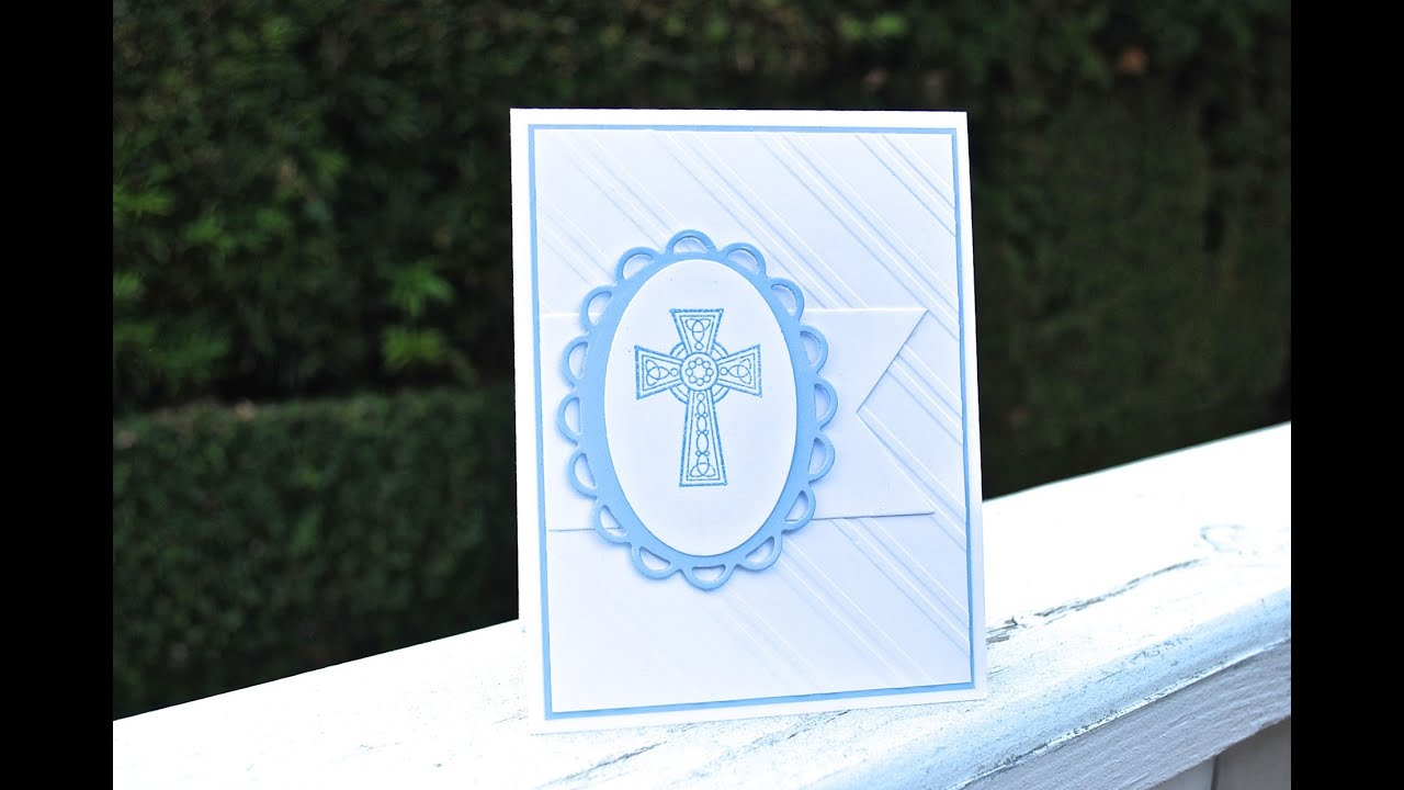 Make a handmade Christening Baptism Card - YouTube