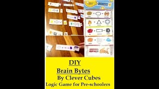 DIY logical game for Pre-Schoolers- BRAIN BYTES by Clever Cubes
