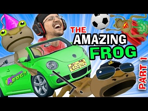 BEST GAME EVER!  The Amazing Frog that Farts Part 1 w/ FGTEE