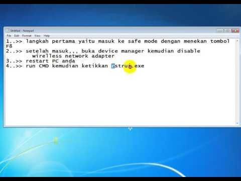 Mengatasi Blue Screen Pada Windows Ndis Sys Youtube