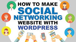 How To Make A Social Media Website With WordPress ( Just Like Facebook )