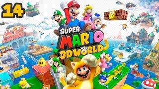 Super Mario 3D World - Прохождение pt14 - Мир-Замок (Продолжение)(Кооперативное прохождение игры