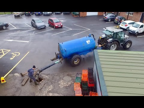 DRAIN IN THE YARD IS BLOCKED, GET THE TANKER!