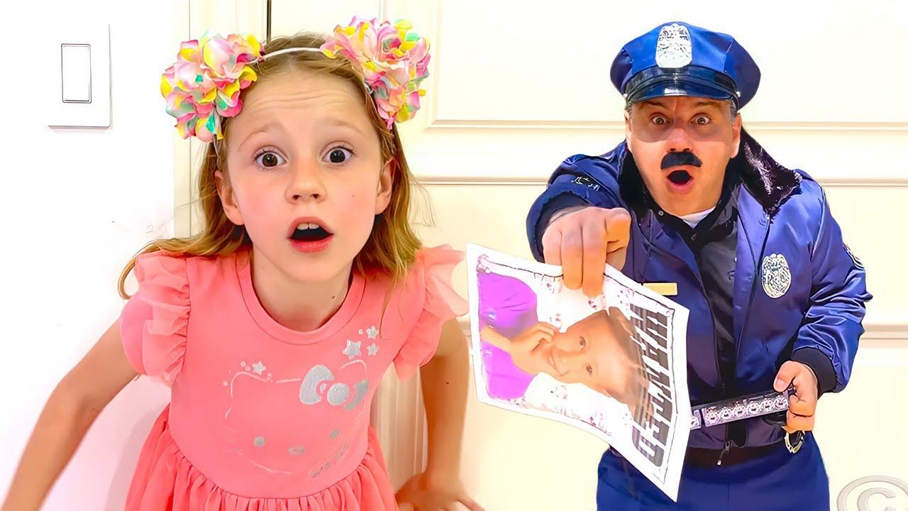 ناستيا وبابا وقصة مطاردة شرطة مضحكه للأطفال