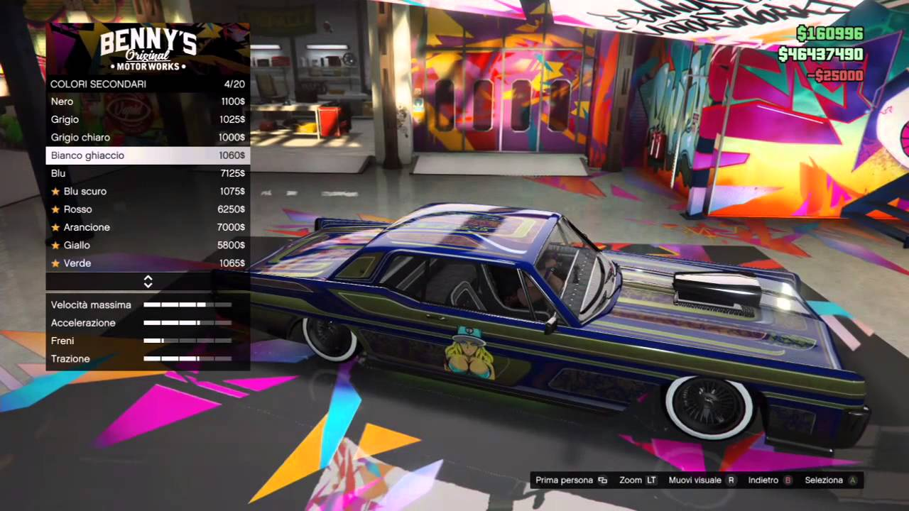 Gta 5 online big shop car benny 39 s garage custom my car for Garage ben autos