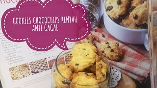 VANILLA CHOCOCHIPS COOKIES RESEP TINTIN RAYNER  enak, renyah, dan gurih