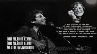 Leonard Cohen - Chelsea Hotel No.2 lyrics