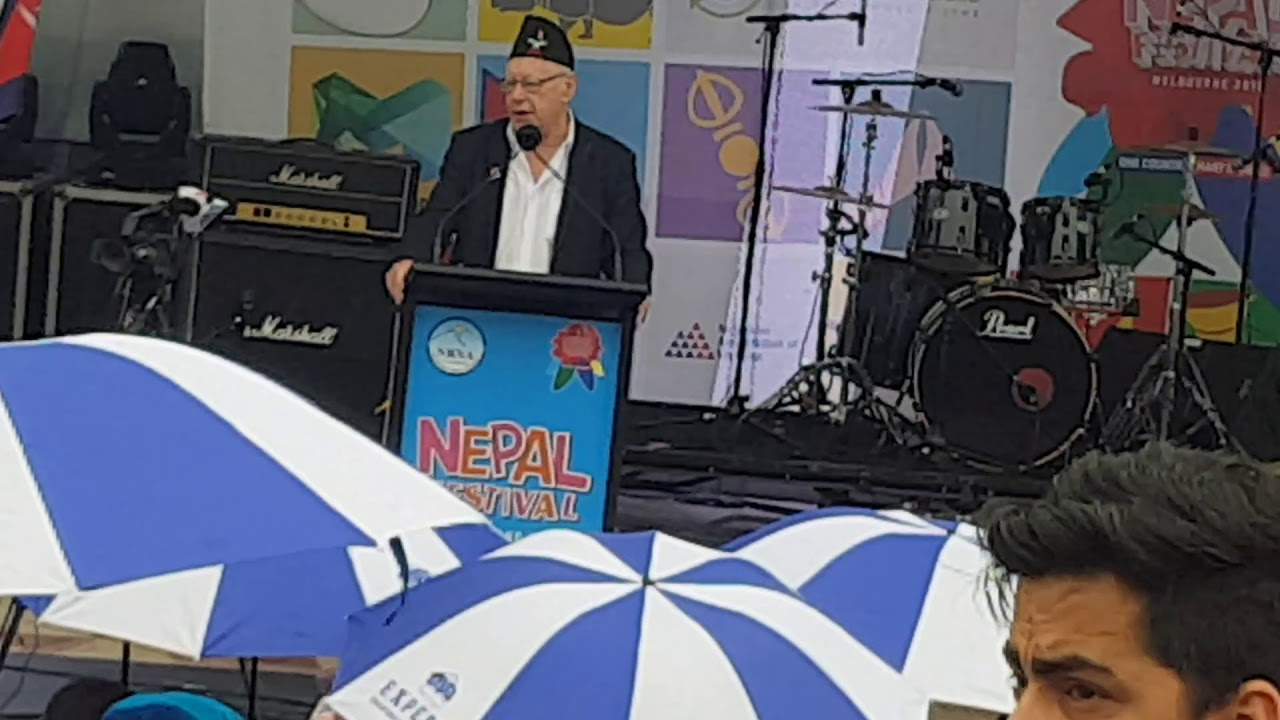 Hon. Bruce Atkinson During Nepal Multicultural Festival 2018 Melbourne, Victoria, Australia