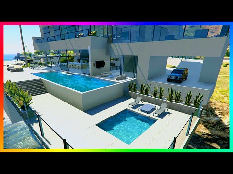 EXPLORING $100,000,000 OF NEW GTA 5 MANSION MODS, HUGE PENTH
