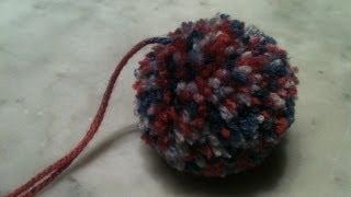 اشغال يدوية طريقة بسيطة لصنع كرة من الصوف achgaal yadawiya
