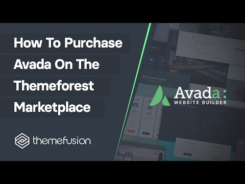 How to Purchase Avada On The Themeforest Marketplace Video