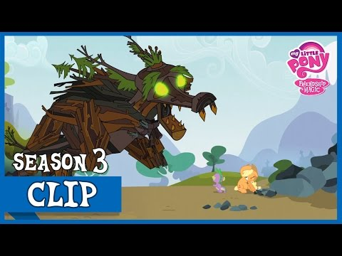 "MLP: FiM - Spike Saves Applejack Of The Timberwolfs ""Spike at Your Service"" [HD]"