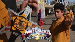 Power Rangers Super Ninja Steel Gold Ranger Weapons