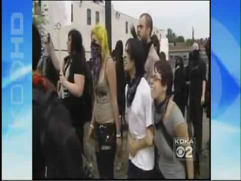 G20 Pittsburgh Protest in Shadyside PA  POLICE USE EXCESSIVE FORCE