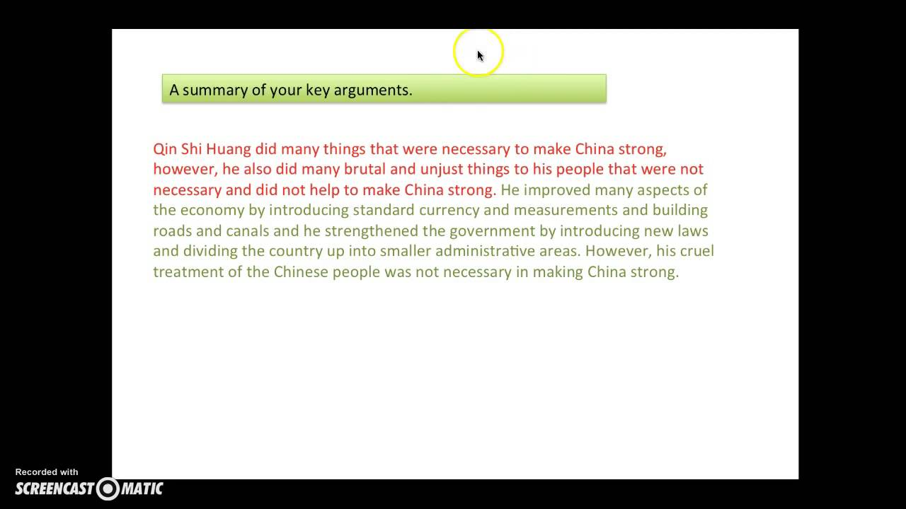 Conclusion Ancient China Essay Youtube