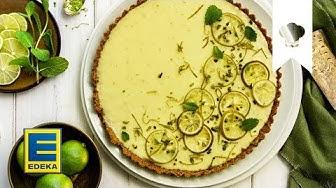 Key Lime Pie Rezept   Fruchtiger Limetten-Kuchen für den Sommer   EDEKA