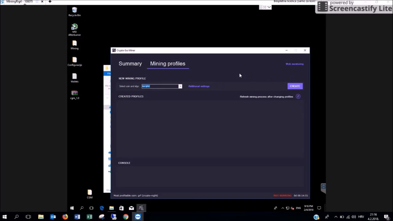 Crypto Gui Miner & Calculator | Free GPU Mining Software