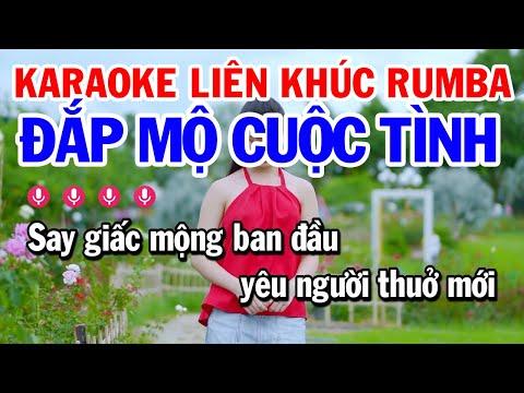 Karaoke Liên Khúc Nhạc Sống Trữ Tình Tone Nữ - LK Đắp Mộ Cuộc Tình   Karaoke Công Trình