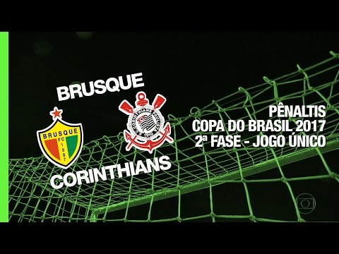 Pênaltis - Brusque x Corinthians - Copa do Brasil - 01/03/2017