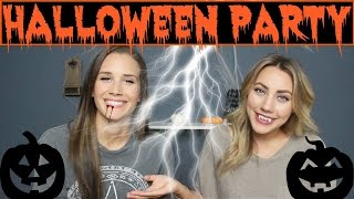 Last Minute Halloween Party | With Surprise Helper!