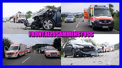 [Kurzbericht] + NACH AUSWEICHMANÖVER FRONTALCRASH + Rettungsdienst mit Notärzten vor Ort (Winnenden)