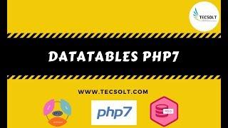 Datatable php mysql example