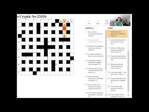How To Read A Cryptic Crossword Clue:  Beginner Video