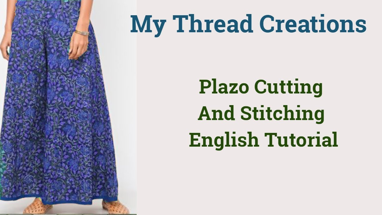 English Version Of Diy Plazo Cutting And Stitching In 10 Easy Steps