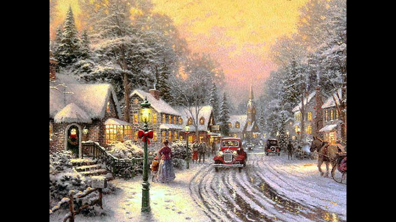 Old Fashioned Winter Scene Christmas scenes Winter christmas