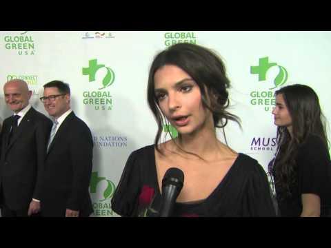 Global Green USA Pre Oscar Party: Emily Ratajkowski Interview
