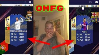 OMFG! TOTY MESSI AND RONALDO IN THE SAME PACK OPENING! BEST EVER!! PACYBITS FUT 18