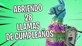 Opening 28 Birthday Flames FORTNITE SAVE THE WORLD