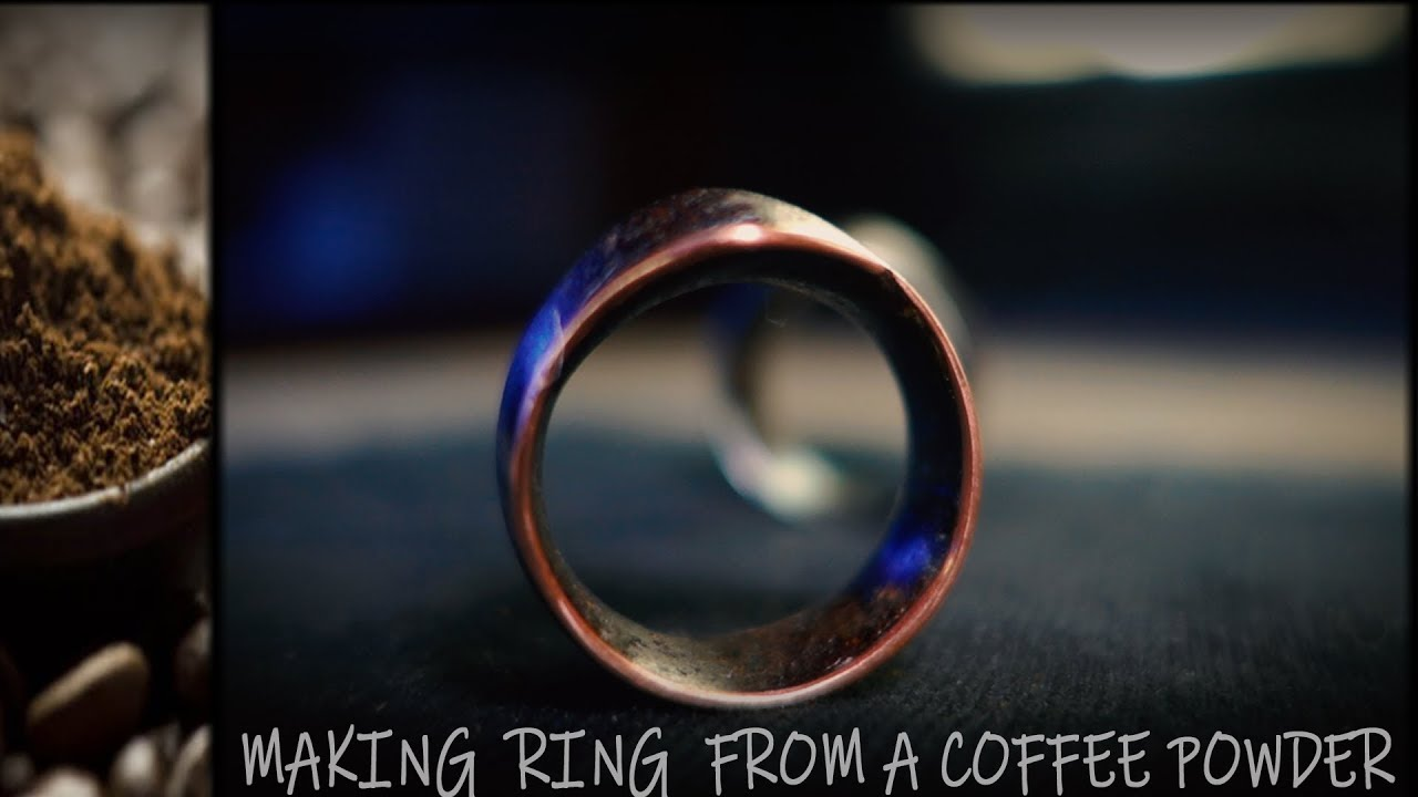 How To Make RING From a Coffee Powder and Copper/Silver Wire