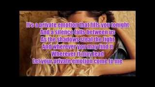 Ricky Martin - Private Emotion with Lyrics