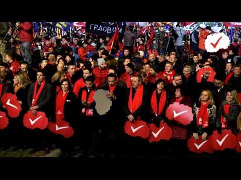 Пренос во живо од големиот митинг во Скопје