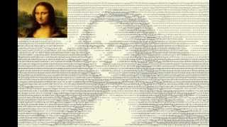 How to Draw Mona Lisa Using Fonts and Texts
