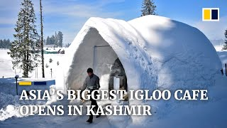 Asia s biggest igloo cafe opens in a chilly first for Indian held Kashmir