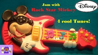 2010 Disney Rock Star Mickey Toy Guitar By Mattel