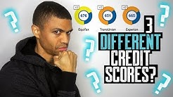 WHY YOUR 3 CREDIT SCORES ARE ALL DIFFERENT || CREDIT SCORE BOOST