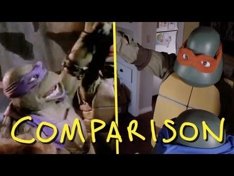 Teenage Mutant Ninja Turtles 1990 Trailer - Homemade VS Original TMNT (Comparison)