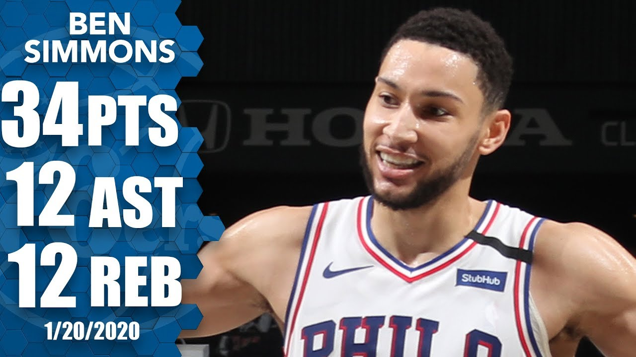 Ben Simmons has career game vs. Nets with 34-point triple-double | 2019-20 NBA Highlights