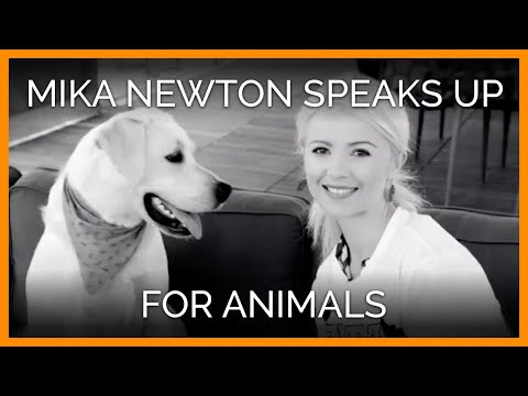 Beautiful Mika Newton Speaks Up for Animals